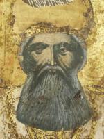 St Athanasius enthroned, detail