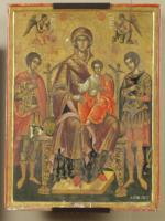 Virgin Mary Enthroned with St George and St Demetrius
