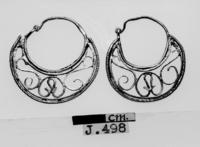 Department of Antiquities Republic of Cyprus: Pair of gold earrinngs (J.498)