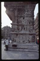 Thessaloniki, arch of Galerius, pillar with relief scenes