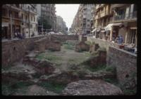 """Thessaloniki, rounded building, also known as """"Apsidal Hall"""" of the Galeria Complex"""
