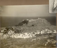 Greece, Rhodes, Lindos, the Acropolis, Historical photo, 1938, M. Paolini